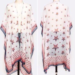 Jackets & Blazers - USA Stars Patriotic Kimono
